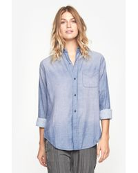 Current/Elliott - Blue The Prep School Shirt - Lyst