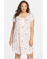 Lauren by Ralph Lauren - Multicolor Floral Print Jersey Sleep Shirt - Lyst