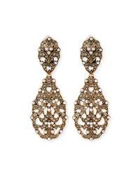 R.j. Graziano - Metallic Lace Drop Earrings - Lyst