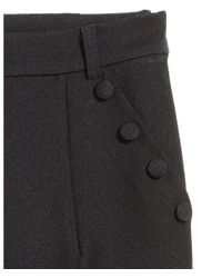 H&M - Black Woven Trousers - Lyst
