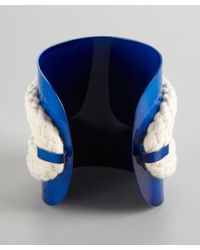 Noir Jewelry | Blue And Silver Crystal Rope Cuff | Lyst