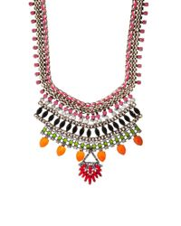 River Island | Orange Bright Multi Section Necklace | Lyst