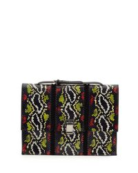 Proenza Schouler - Black Large Snakeskin Lunch Bag-on-a-strap - Lyst