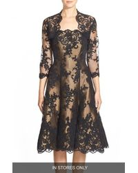 Helen Morley - Black Strapless Alencon Lace & Mikado Party Dress - Lyst