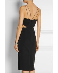 Cushnie et Ochs - Black Cutout Stretch-Ponte Dress - Lyst