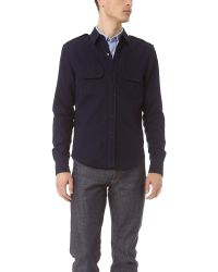 Band of Outsiders - Blue Military Shirt for Men - Lyst