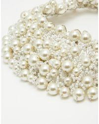 ALDO - White Wamblee Pearl Statement Necklace - Lyst