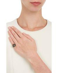 Lynn Ban - Grey Diamond Black Rhodiumplated Silver Spider Pinky Ring - Lyst