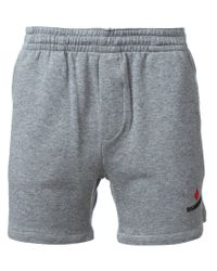 DSquared² - Gray Classic Track Shorts for Men - Lyst