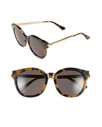 Gentle Monster | Metallic 53mm Round Sunglasses | Lyst