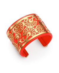 Tory Burch - Metallic Madura Frete Cuff Bracelet - Lyst