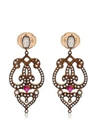 Sabine G - Brown Marquise Earrings - Lyst