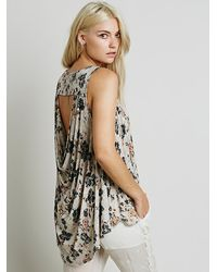 Free People - Brown Dreamer Tee - Lyst