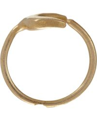 Suzannah Wainhouse Jewelry - Metallic Crescent Moon Wraparound Ring - Lyst