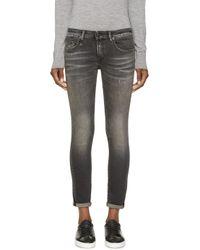 R13 - Black Kate Skinny Jeans - Lyst