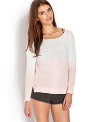 Forever 21 | Natural Soft Ombre Sweater | Lyst