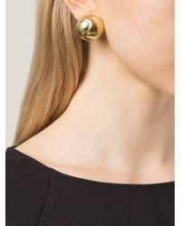 Vaubel - Metallic Round Clip-on Earring - Lyst