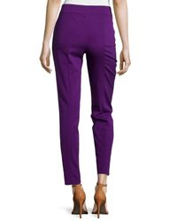 ESCADA - Purple Mid-rise Tapered Crop Pants - Lyst