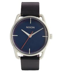 Nixon - Blue Mellor Watch with Dark Brown Leather Strap A129 for Men - Lyst
