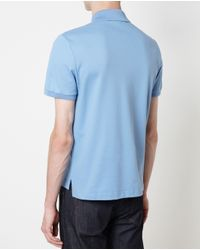 Gucci | Blue Short Sleeved Logo Polo Shirt for Men | Lyst