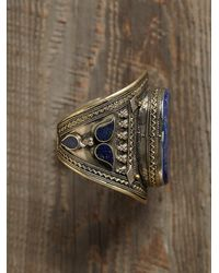 Free People | Blue Vintage Lapis Cuff | Lyst