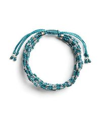 Wakami - Life Is What You Make Of It: 7 Strand (blue) - Lyst