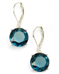Anne Klein - Metallic Stone Drop Earrings - Lyst