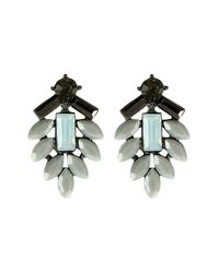 Coast - Black Vita Grey Faceted Earring - Lyst