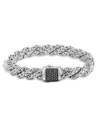 John Hardy | Metallic Classic Chain Lava Medium Twisted Chain Bracelet | Lyst