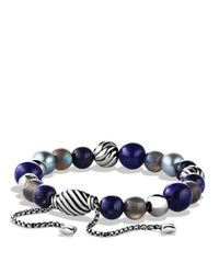David Yurman - Black Spiritual Beads Bracelet - Lyst