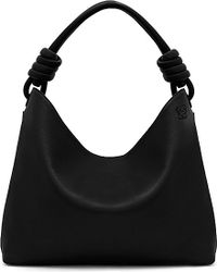 Loewe | Black Hobo Leather Tote Bag Large | Lyst