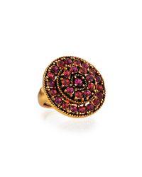 Oscar de la Renta - Pink Crystal Disc Ring - Lyst