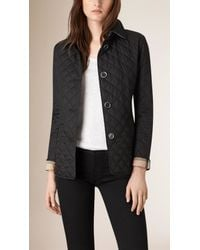 Burberry | Black Diamond Quilted Jacket | Lyst