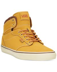 Vans | Orange Men's Atwood Hi Sneakers for Men | Lyst
