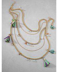 Patrizia Pepe | Green Junk Jewellery Necklace | Lyst