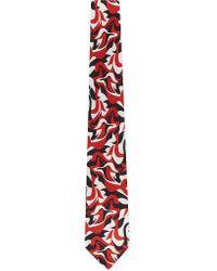 Alexander McQueen - Red Tiny Swirl Tie - For Men for Men - Lyst