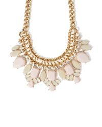 Forever 21 | Natural Faux Gem Statement Necklace | Lyst