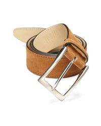 Saks Fifth Avenue | Brown Suede Belt for Men | Lyst