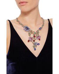 Wendy Yue Multicolor Floral Collar Necklace