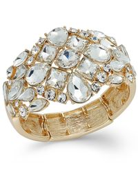 INC International Concepts | Metallic Flower Stone Stretch Bracelet | Lyst