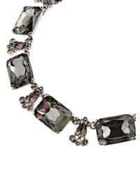 Oscar de la Renta | Black Swarovski Crystal Embellished Necklace | Lyst