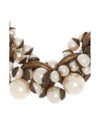 Max Mara - Natural Sovarna Pearl Beaded Necklace - Lyst