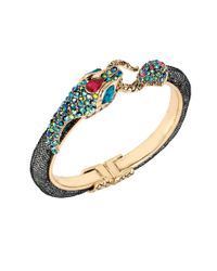 Betsey Johnson | Multicolor Dark Shadows Snake Mesh Bangle Bracelet | Lyst