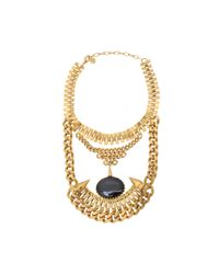 Ela Stone | Metallic Ronnie Onyx Collar Necklace | Lyst