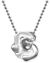 Alex Woo | Metallic Little Collegiate By Cornell Pendant Necklace In Sterling Silver | Lyst