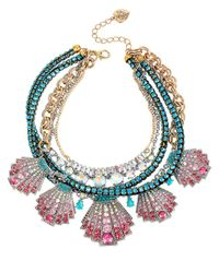 Betsey Johnson - Pink Ocean Drive Pave Crystal Shell Statement Necklace - Lyst