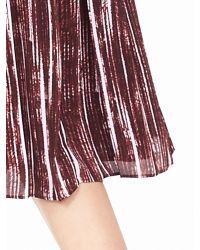 Banana Republic | Purple Mixed-pleat Printed Midi Dress | Lyst