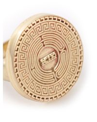 KTZ | Metallic Labyrinth Ring for Men | Lyst