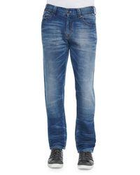 True Religion | Blue Geno Clear Waters Straight-leg Denim Jeans for Men | Lyst