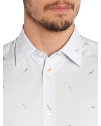 Paul Smith | Multicolor The Byard Pattern Slim Fit Long Sleeve Shirt for Men | Lyst